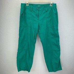LOFT Capris Linen/Cotton Size 4